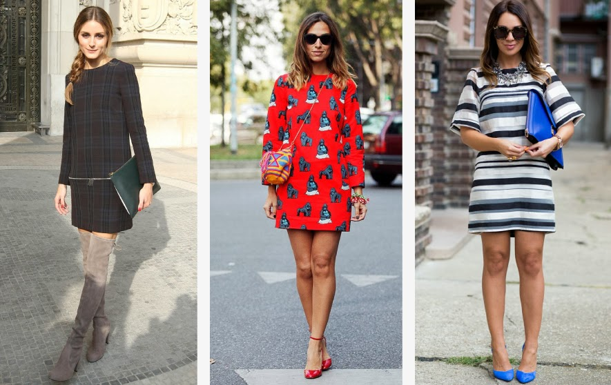 Modas de vestidos tipo talego