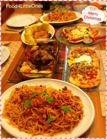 Food for little ones christmas eve get together simple home cook it certainly helped to have the cooking sequence pre played in mind as i was driving home and my recipes readily available in my own blog forumfinder Choice Image