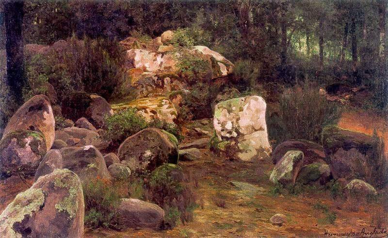 Hermen Anglada-Camarasa - Landscape with rocks