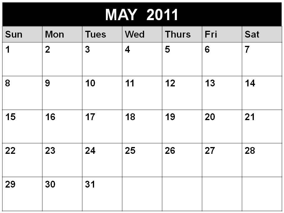 calendar may 2012. Calendar May 2011 Printable