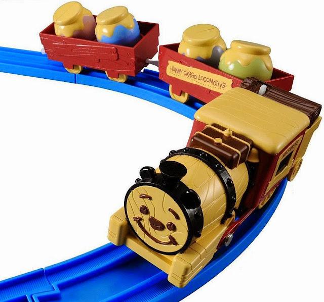 Tầu hỏa Disney Dream Railway Winnie the Pooh Honey Cargo Locomotive màu sắc bóng bẩy tươi vui