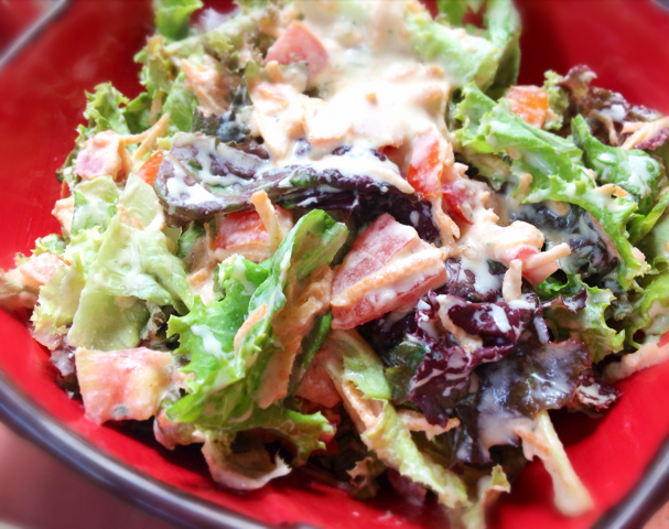 Mango Sour Cream Salad