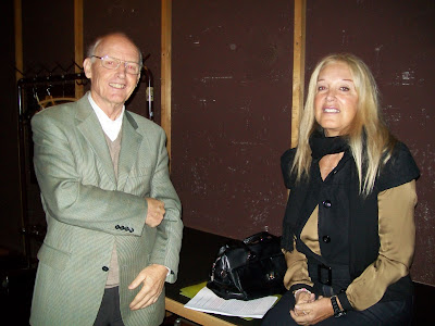 Vassula just before her speech with Dip.Ing. Heinrich Jochum