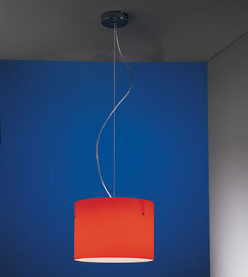 The Nemo Donna Large Glass Pendant in a Red finish - red DONESR41 Nemo Lamp