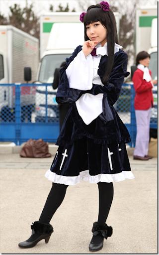 ore no imoto ga konna ni kawaii wake ga nai cosplay - goko ruri aka kuroneko 3 from winter comiket 2010
