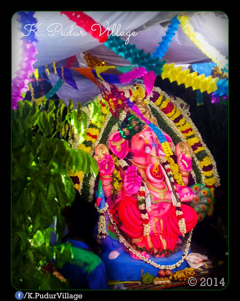 K.Pudur Village Vinayaka Chaturthi festival celebration 2014 (All his devotees during this festival is starting on the puja...)