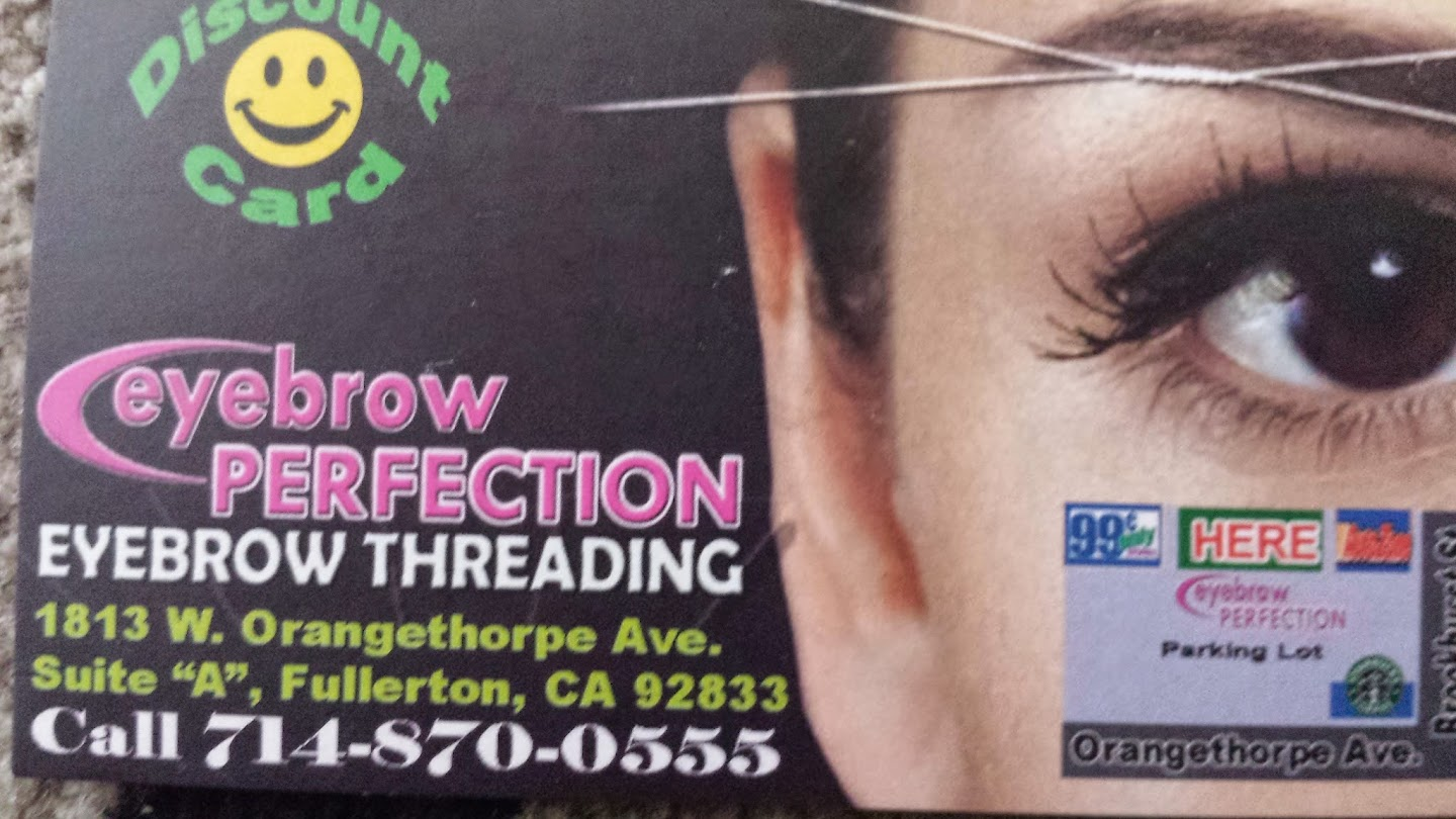 Eyebrow Perfection Threading Saloon Hair Removal Service In Fullerton