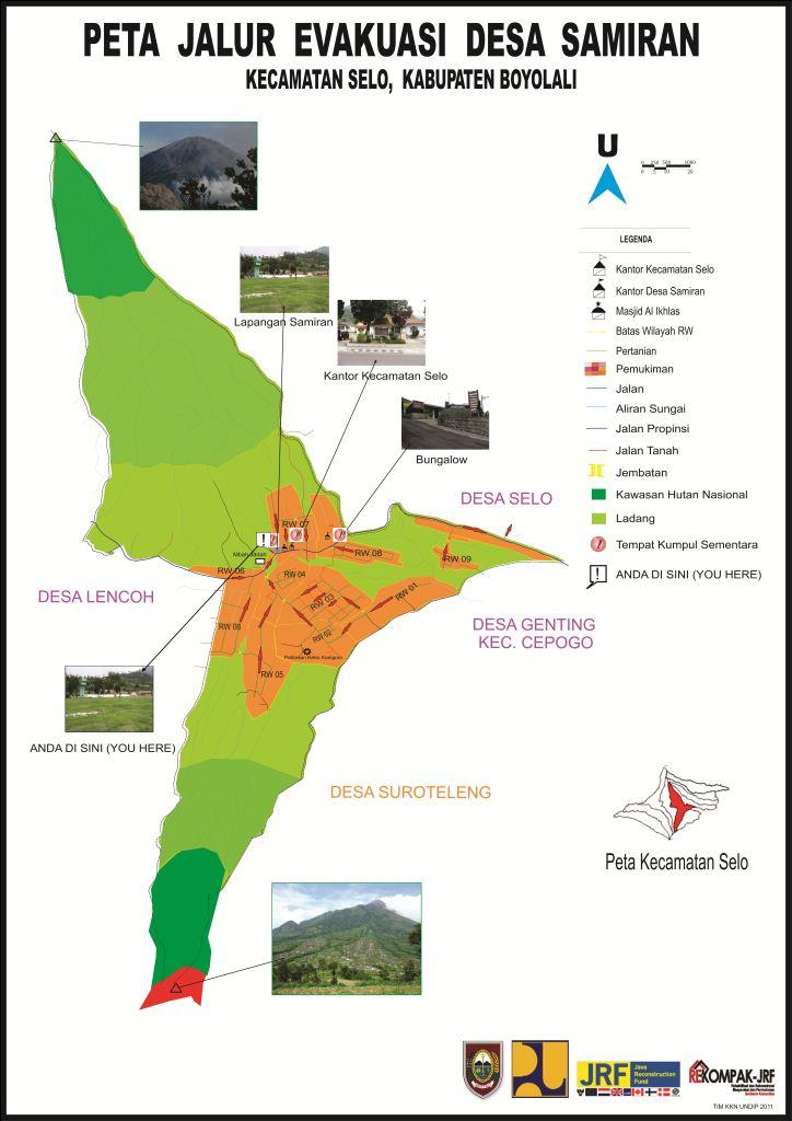 Desa Wisata Samiran: Peta Jalur Evakuasi Desa Samiran