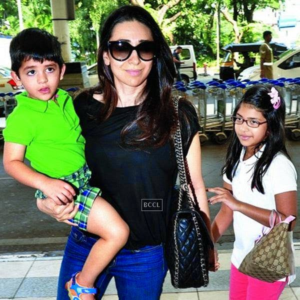 Karisma's kids Samaira and Kiaan Raj live with her after she decided to split with her husband Sanjay Kapur.