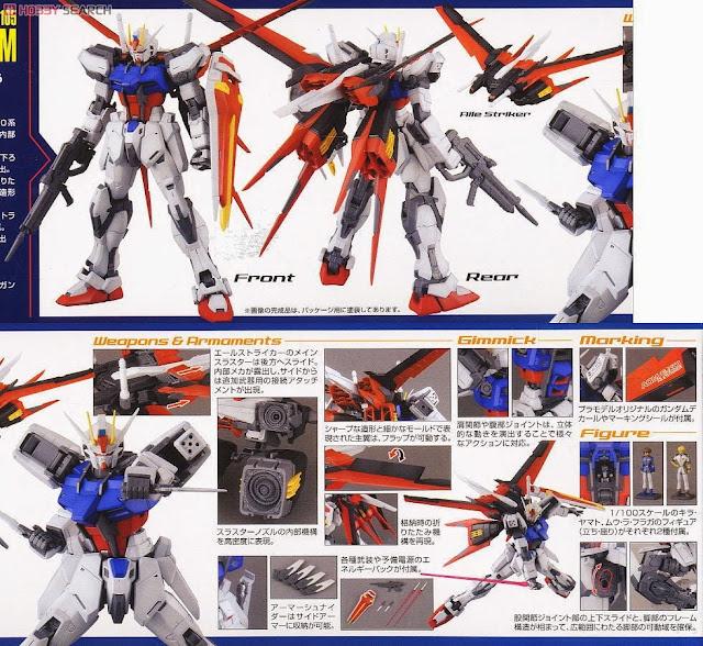 Mô hình Aile Strike Gundam MG 1/100 được sản xuất tại Nhật bản