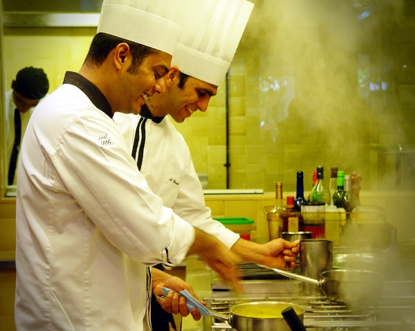 Uday and Anish Cooking