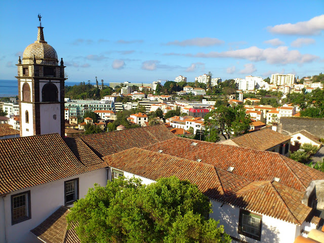 Santa Clara monastery roofs and a Funchal view