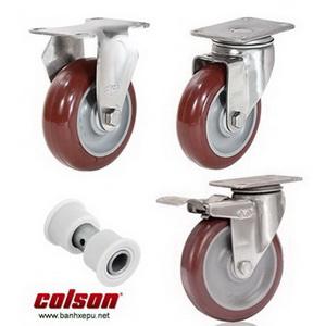 Bánh xe đẩy càng inox 304 bánh xe PU chịu tải trọng (90~114kg)
