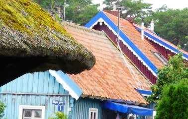 Hausdächer in Nidden/Nida, Kurische Nehrung, Litauen (Foto: Martin Bullinger)