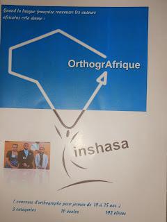 Le dépliant annonçant le concours OrthogrAfrique de Kinshasa. Photo Droits Tiers.