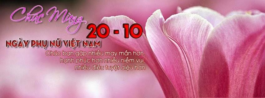 Bộ ảnh bìa FB đẹp mừng ngày phụ nữ Việt Nam 20/10