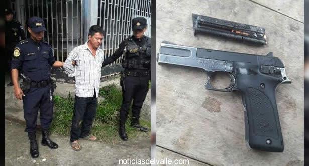 Capturado en allanamiento pretendía huir con dos armas de fuego