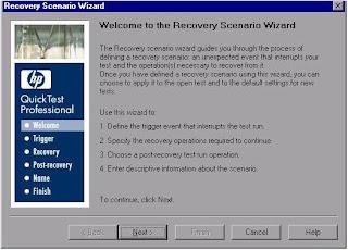 QTP Recovery Scenario