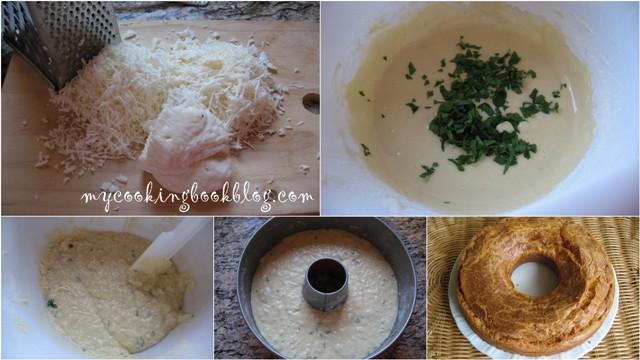 Халумопита (Χαλουμόπιτα) или кейк с халуми и мента