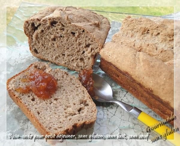 gourmande sans gluten pain cake pour petit d jeuner sans gluten sans lait sans oeuf. Black Bedroom Furniture Sets. Home Design Ideas
