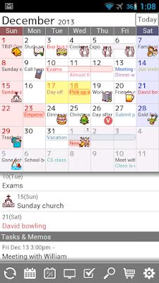 *完整自訂外觀的行事曆:Jorte (備忘記事本) (Android App) 2