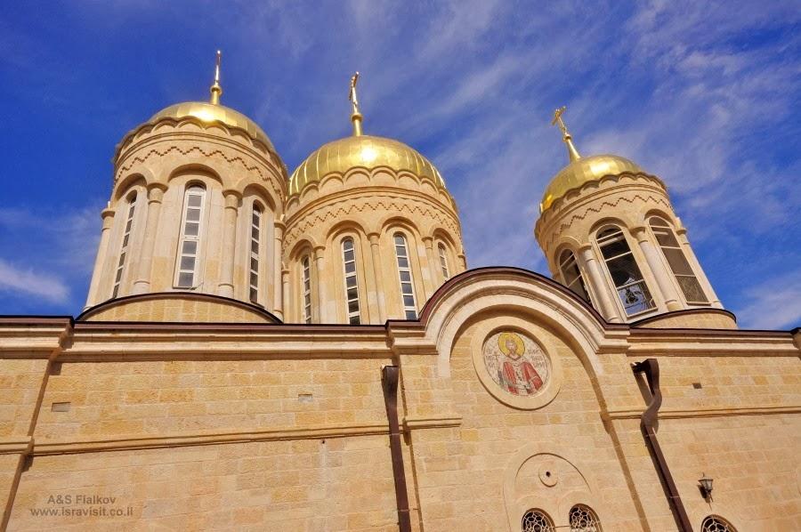 Купала соборного храма Горненского монастыря. Экскурсия в Горненский монастырь.  Гид в Израиле Светлана Фиалкова.