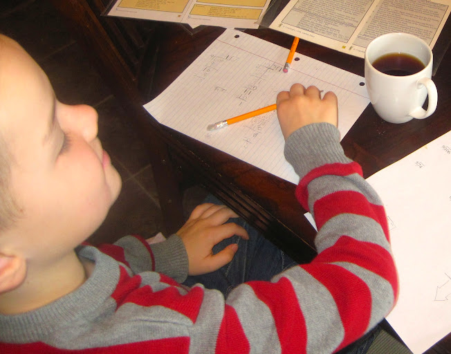 homeschooling without a school room, using tables