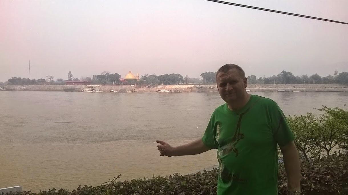 Das Goldene Dreieck; auf der anderen Seite des Mekong liegt Laos
