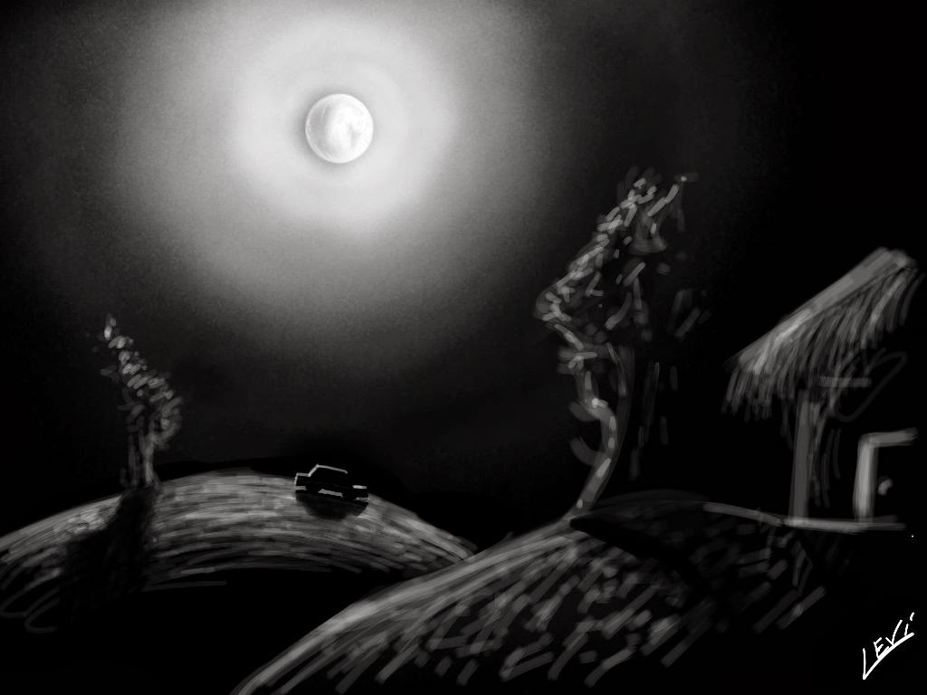 moon... made with Sketches