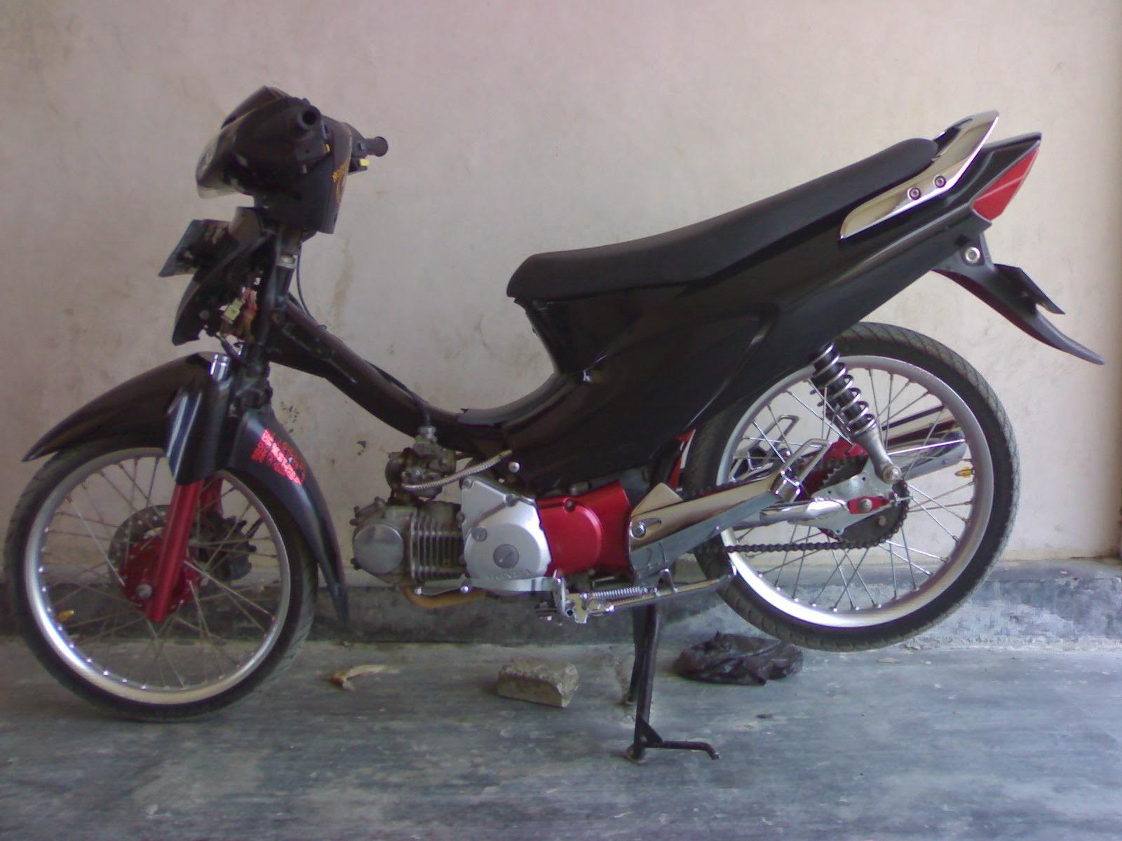 Motor Supra Fit Modifikasi Sederhana