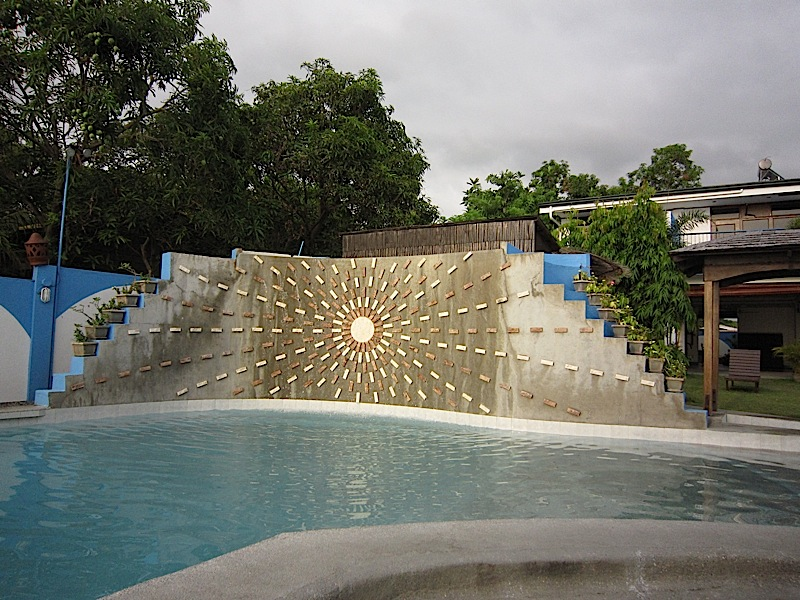 swimming pool of Sunset Bay Beach Resort in San Fernando, La Union