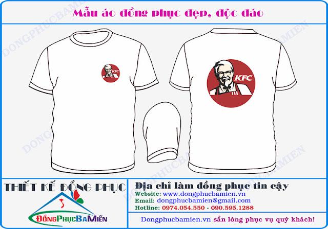 Dong phuc ban hang chuoi cua hang KFC Viet Nam