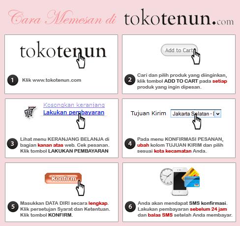 Cara Memesan di tokotenun.com