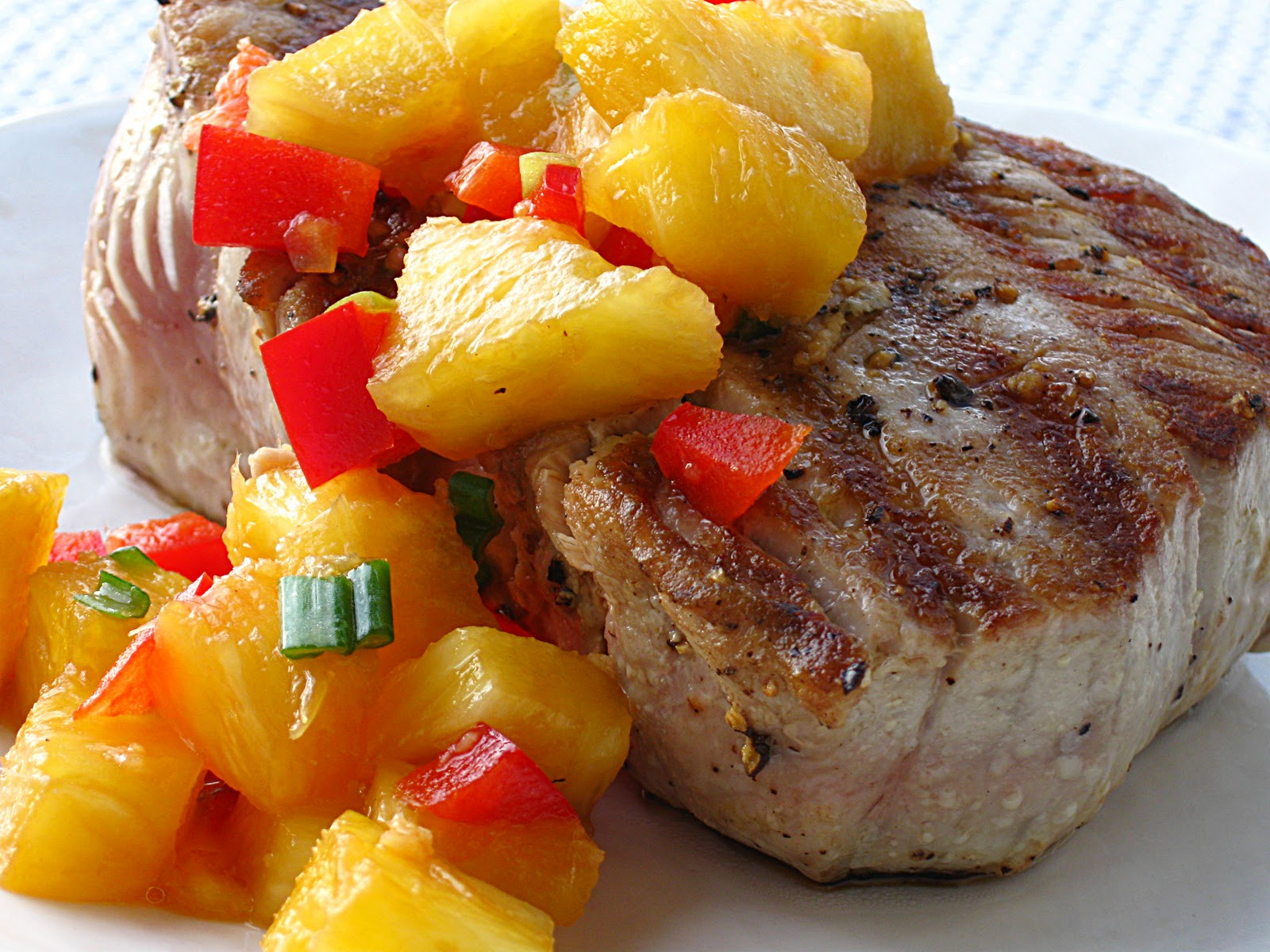 All That Splatters: Grilled Tuna with Pineapple Relish