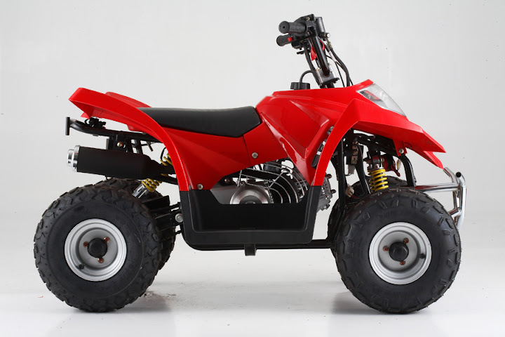 90cc Kanga Crossfire Kids Quad Bike Red Side