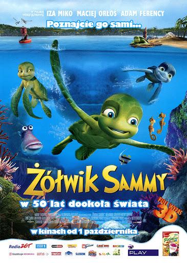 Przód ulotki filmu 'Żółwik Sammy: W 50 Lat Dookoła Świata'