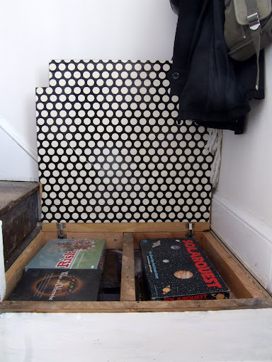 Storage in stair landing