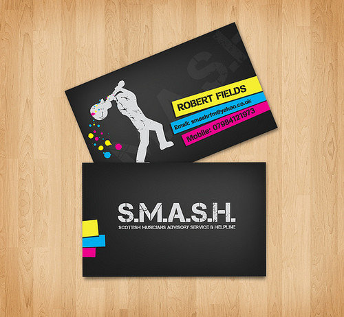 Business Card Design:  - S.M.A.S.H. Business Card design