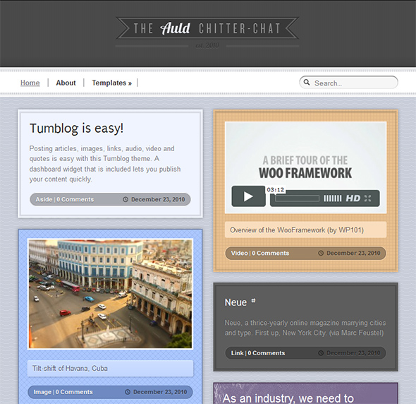 Auld Vintage WordPress Theme