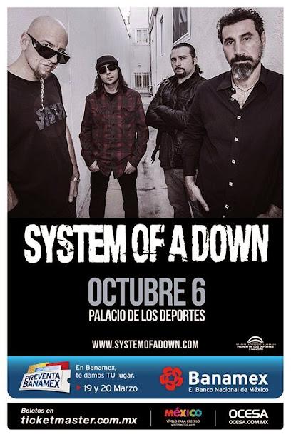 System of a Down confirma show no México