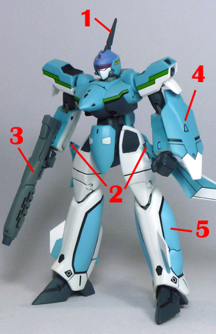 Macross VF-X2 VF-19A VF-X Ravens Excalibur Armament weapon position