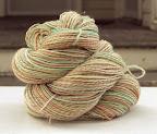 Handspun yarn, Melba, 3 ply