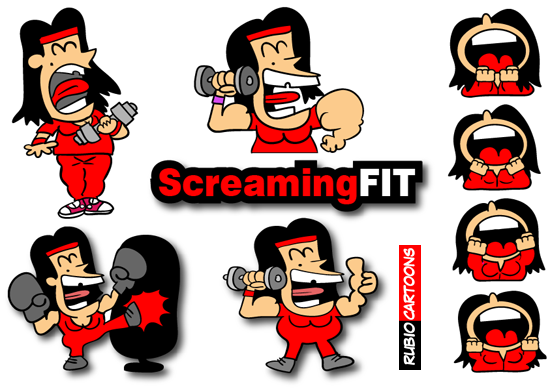 SCREAMING FOR A FIT BODY ON FITNESS ACTIVITY