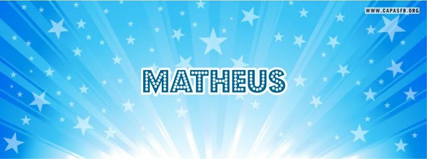 Capas para Facebook Matheus