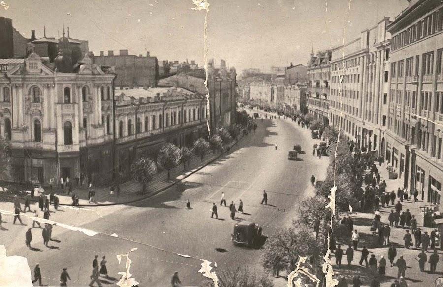 угол Прорезной и Крещатика, 1935 год