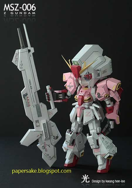 Gundam Girl Papercraft