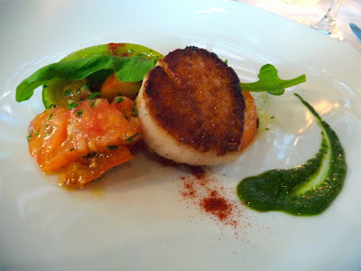 Mistral Kitchen, Seattle, chef's dinner, Maine Diver Scallop