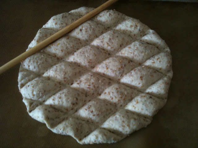 Middle Eastern flat bread - with a LOT of sesame