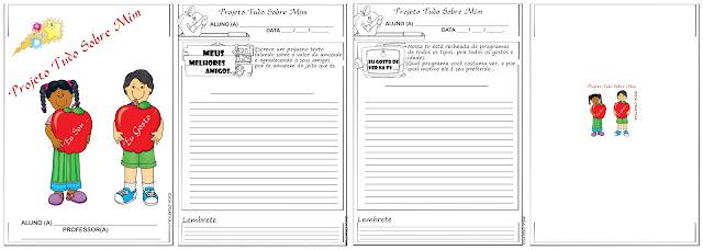 Caderno de Atividades Projeto Tudo Sobre Mim