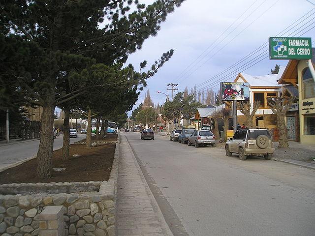 Avenida San Martín, en El Calafate